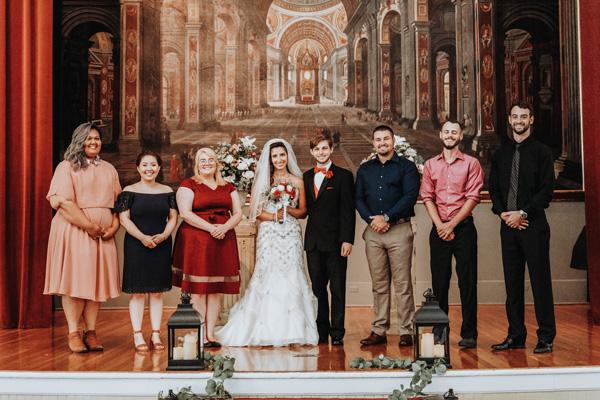 zero waste wedding bride and groom